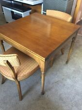 Barnard & Simonds Co. Fold Out Table w/4 Chairs (Solid Wood!)