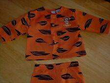 Disney 2-Pc Orange Fleece Hooded Zip Light Outer Suit-18 Months-Nwot-100% Poly