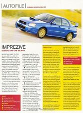 2003 2004 Subaru Impreza WRX STI Original Car Review Print Article J623