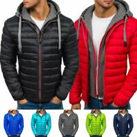 Mens Padded Puffer Bubble Coat Winter Warm Jacket Zip Up Hooded Quilted Outwear