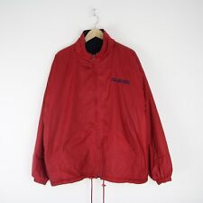 Vintage Mens 90s Guess Reversible Fleece Jacket Coat RARE XL Spell Out 3390