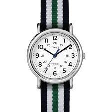Timex Orologio Indiglo Cinturino Tessuto Colorato Luce ABT658 Bianco Verde Blu