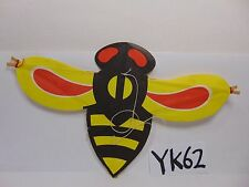 VINTAGE JAPAN MADE PAPER KITE SMALL CEILING HANGING BEE RED-YELLOW-BLACK