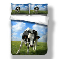 Animal Quilt Cover Duvet Cover Set Twin/Full/Queen/King Size Bedding Set Cow US