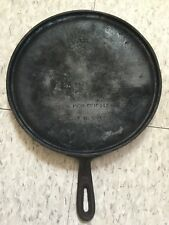 WAGNER WARE CAST IRON NO. 9 GRIDDLE 10 1/4 ''
