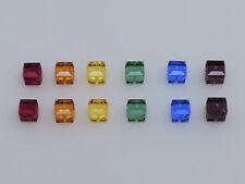SWAROVSKI® Rainbow Crystal Cubes,#5601 6mm Square Beads, Twelve(12) beads