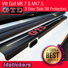 VW Golf MK6 MK7 MK7.5 GTD Side Door Sill Protectors vinyl (3 door)