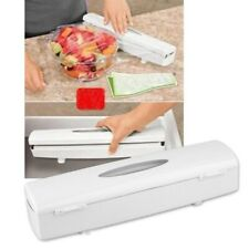 Kitchen Plastic Food Cling Wrap Foil Dispenser Cutter Preservative Film Tool