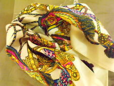 Foulard carré Scarf 100% Soie Silk 58 X 56  cm multicouleurs /new neuf