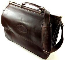 BOB TIMBERLAKE Vintage Aktentasche Umhänge Messenger Koffer Braun Leder