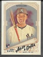 Miguel Andujar 2018 Topps Allen Ginter HOT BOX SILVER GLOSSY FOIL Yankees RC 201