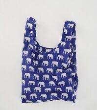 BAGGU BLUE ELEPHANT Standard Size Reusable Bag - NWT - Sold Out Pattern