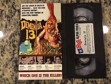 DEMENTIA 13 OOP VHS! 1963 FRANCIS FORD COPPOLA, ROGER CORMAN AXE MURDER HOROR!
