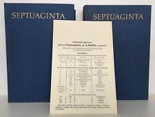 SEPTUAGINTA - Editio Octava - 2 Bände Leinen GEBUNDENE Bibelausgabe - A. Rahlfs