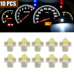 10pcs T5 B8.3D 5050 SMD Car LED Gauge Dashboard Dash Instrument Light Bulb White