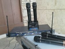 VocoPro Uhf-5805 4-Channel Rechargeable Wireless Microphone System, in Hard Case