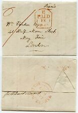 GB 1840 PENNY POST COVER MARKET DRAYTON TOWN DATESTAMP re ADDRESS ERROR PREVIOUS