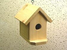 New listing Small Backyard Hanging Birdhouse with clean-out & landing deck.