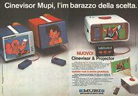 X0522 Cinevisor MUPI - Goldrake - Pubblicità del 1979 - Vintage advertising