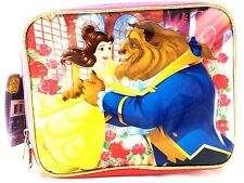"New Disney Beauty And The Beast 9.5"" Pink Insulated School Lunch Bag"