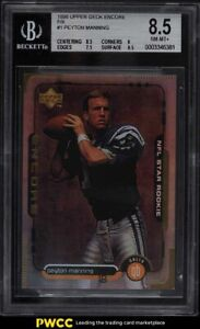 1998 UD Encore F/X Peyton Manning ROOKIE RC /125 #1 BGS 8.5 NM-MT+