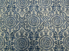 Thibaut Curtain Fabric  Sansome Navy Linen ~ Richmond Collection
