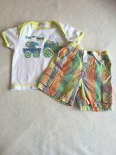 Ropa para Bebé Niños de 0-3 meses-Lindo Traje-T Corto Top & Shorts