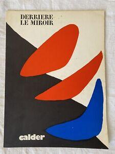 CALDER  / DERRIERE LE MIROIR 1971 /  MAEGHT n 190