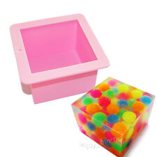Large CUBE SQUARE SOAP Candle Cake Jello Lotion Bar Silicone MOLD Supplies