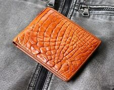 GENUINE CROCODILE BELLY SKIN LEATHER BIFOLD WALLET CW0017-BR