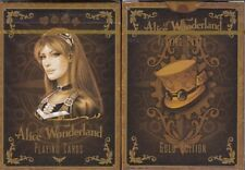 Alice of Wonderland Gold Deck Playing Cards Poker Size Limited Edition Custom