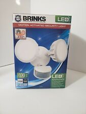 BRINKS 7001W Integrated LED 240-Degree 2-Head Motion Activated Security Light