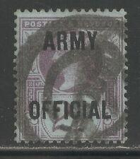 Great Britain #O56 (A57) Fvf Used - 1896 2 1/2p Queen Victoria - Scv $30.00