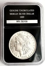 Genuine Uncirculated 1889 Morgan Liberty Silver Dollar In Perfect Condition