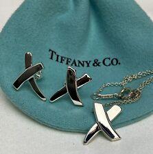 $515 Tiffany & Co. Silver 925 Paloma Picasso X Graffiti Earrings & Pendant Set