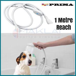 Push On BATHTUB MIXER SHOWER HEAD SET Double Attachment for Bath Taps Hose Spray