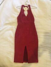 Red Suede Midi Dress, BNWT, Size 8