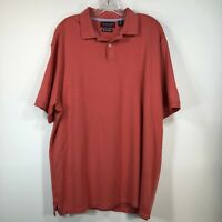 Mens Large Golf Polo Red Supima Cotton Roundtree & Yorke Excellent Condition