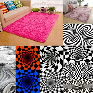 Fluffy Anti-Skid Shaggy Area Rug Living Dining Bed Room Carpet Home Floor Mat