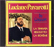 PAVAROTTI Concert VERDI PUCCINI Scotto Giulini CD Rigoletto La Traviata Boheme