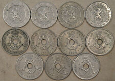 Belgium 10 Centimes 1861,62,63,94,02,02,03,04,04,20,20 Mostly Better Grade Coins