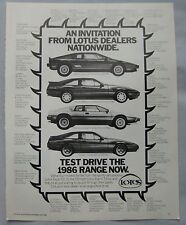 1986 Lotus Original advert