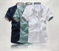 New Mens Fashion Casual Stylish Slim Fit Shirt with small sizes (XS S M L) 016