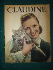 CLAUDINE MAGAZINE  FEMININ N°39  3 avril 1945 antic french magazine