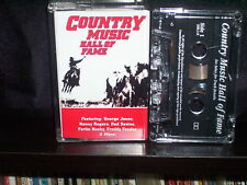 VARIOUS COUNTRY MUSIC HALL OF FAME - RARE CASSETTE NM