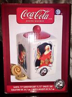 GIBSON 2006 COCA-COLA SANTA CLAUS 75th ANNIVERSARY COOKIE/BISCUIT JAR NEW NOS