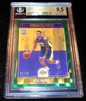 KYLE KUZMA 17-18 HOOPS GREEN HOLO PRIZM PARALLEL ROOKIE RC LAKERS 91/99 BGS 9.5