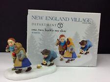 Dept 56 New England Village One, Two, Buckle My Shoe #4044830 Nib
