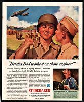 1943 WW II BOEING B-17 Flying Fortress WWII Studebaker AD John Williams