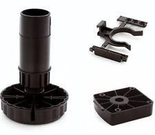 1 Set Sockelfüße Möbelfüße Verstellfüße H 100 mm Kunststoff höhenverstellbar